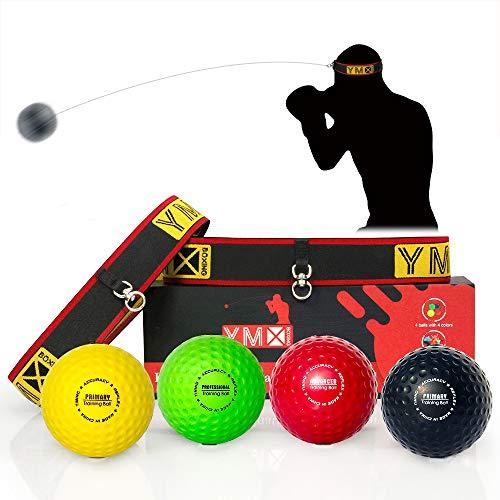 YMX BOXING Reflex Ball/Palla per Riflessi - Ideali per l'Allenamento di Riflessi, Tempismo, Precisione e Coordinazione Occhio-Mano