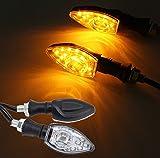 FEZZ Feux Clignotans LED Moto Indicateur Clignotant Universel Sequentiel Clignotants Moto Ampoule Custom Ambre, 2 Pack