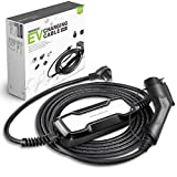 Morec EV Charger 16A 3.68KW NEMA6-20 Plug 8m (26 feet) Level 2 Portable EVSE, 220V Home Electric Vehicle Charging Station Compatible with All EV Cars, to J1772 Plug …