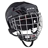 CCM HT50 Hockey Helmet with Cage (White - X-Small)