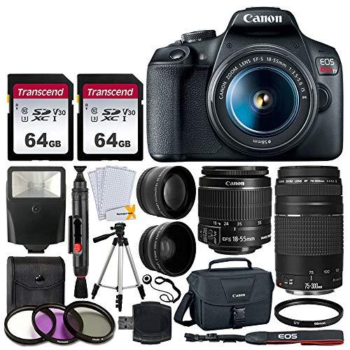 Canon EOS Rebel T7 DSLR Camera + EF-S 18-55mm f/3.5-5.6 is II +...