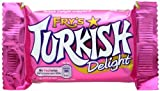Turkish Delight covered in delicious milk chocolate 12 individually wrapped candy bars. Imported from Britain. The Fry's Turkish Delight bar is popular with slimmers, containing less than 8% fat (under 4g per bar)