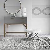 CosmoLiving by Cosmopolitan Cougar Area Rug, Snow Leopard