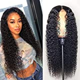 Klaiyi Hair 13X6 Lace Front Wig Human Hair Brazilian Curly Hair 150 Density Pre-Plucked Natural Hairline Deep Part With Baby Hair For Woman (18 inch)