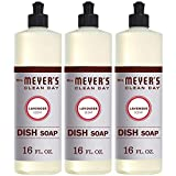 Mrs. Meyer's Clean Day Dishwashing Liquid Dish Soap, Cruelty Free Formula, Lavender Scent, 16 oz - Pack of 3