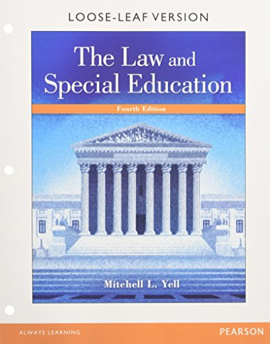 Law and Special Education, The, Enhanced Pearson Etext with Loose-Leaf Version -- Access Card Packag