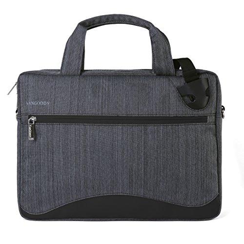Slim Black Anti-Theft Laptop Messenger Bag 14 15.6 inch for Dell Latitude, Inspiron, Precision, XPS, Vostro, G3 G5 G7