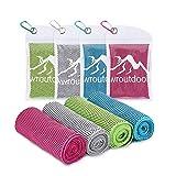 Awroutdoor 4pcs Serviette de Refroidissement - Serviette de Glace du Cou pour soulagement instantané pour...