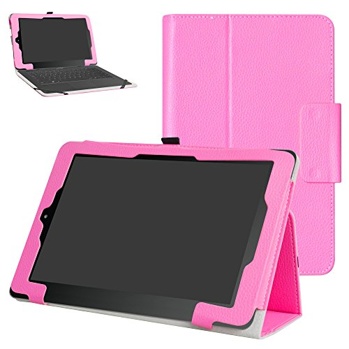 RCA 10 Viking Pro/Viking II/Cambio W101 V2 Case,Mama Mouth PU Leather Folio Stand Cover for 10 inch RCA 10 Viking Pro/Viking II/Cambio W101 (V2) 10.1' 2-in-1 Tablet,Pink
