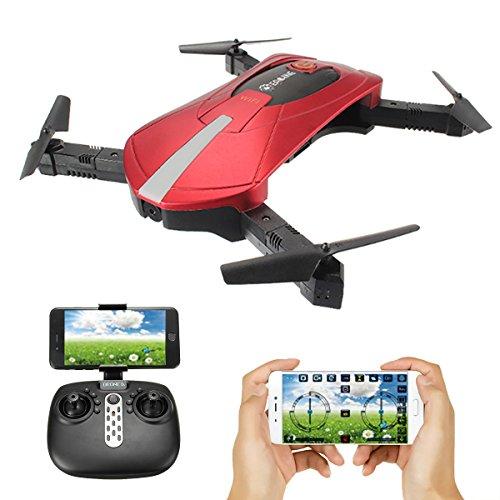 Drone con Telecamera, EACHINE E52 Drone Pieghevole con 0.3MP Videocamera WiFi FPV RC 2.4G 6-Axis Headless Mode Toys Micro Nano Quadcopter RTF