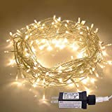 JMEXSUSS 100LED 42.6ft Indoor/Outdoor Fairy String Lights 30V 8 Modes Christmas Lights for Home, Christmas Tree, Wedding Party, Room,Wall Decoration, UL588 Approved (100LED, Warm White)