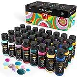 Arteza Pinturas para tela en 3D   Caja de 30 colores permanentes para pintar telas, lienzos y otros...