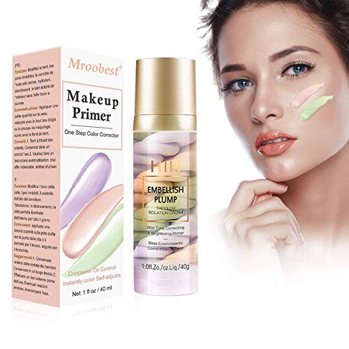 Base de Maquillaje, Pore Primer, Tricolor Makeup Base Foundation, Imprimaciones de larga...