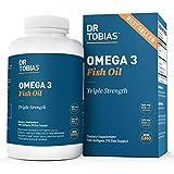 Dr Tobias Omega 3 Fish Oil Triple Strength, 2,000mg, Burpless, Non-GMO, NSF-Certified (180 Softgels)