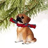 Puggle Tiny Miniature One Christmas Ornament Brown - DELIGHTFUL!