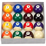GSE Games & Sports Expert 2 1/4-Inch Professional Regulation Size Billiards Pool Balls Set (Several Styles Available) (Professional Standard Balls)