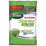 Scotts Turf Builder Starter Food for New Grass, 42 lb. - Lawn Fertilizer for Newly Planted Grass, Also Great for Sod and Grass Plugs - Covers 14,000 sq. ft.