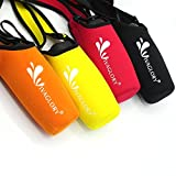 Vivaglory Water Bottle Carrier, Insulated Neoprene Water Bottle Sling with Wide Adjustable Shoulder Strap for Daily Walking, Hiking and Other Outdoor Activities, Classic Black