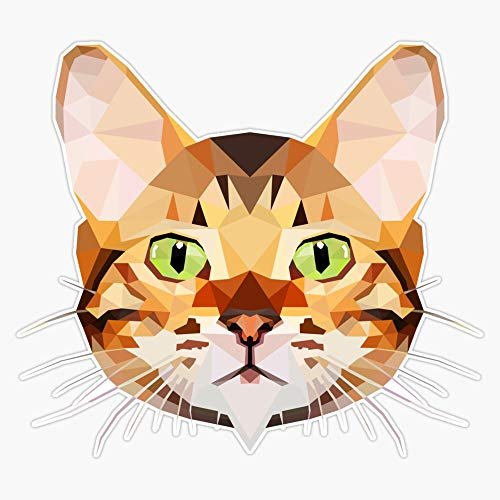 """Leyland Designs Bengal Cat Sticker Outdoor Rated Vinyl Sticker Decal for Windows, Bumpers, Laptops or Crafts 5"""""""