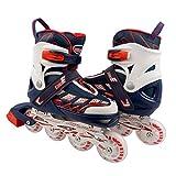 ELIITI Kids Inline Skates for Girls Boys Adjustable Size 13J to 9 (Navy, S (US 13.5J to 3))
