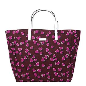 Gucci Women's Parasol Print Purple Canvas Tote Bag Handbag With Heartbit 282439 5060 39