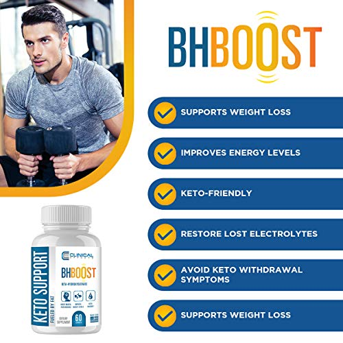 Clinical Effects: Keto Support BHBoost - Dietary Supplement for Keto Weight Support - 60 Capsules 3