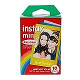Faguo 10 Feuilles de Papier Photo instantané Rainbow Lace Mini7 8 25 70 90 Film...