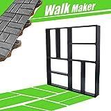 CJGQ 15.7'x15.7'x1.57' Concrete Molds Reusable Walk Maker Pathmate Stone Molding Stepping Stone Path Maker Paver Yard Patio Lawn Garden DIY Walkway Pavement Brick Moulds (8-Grid)