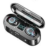 WZTO Auriculares Bluetooth Inalámbricos Control Táctil Auriculares Bluetooth 5.0 Micrófonos Dual Incorporado Hi-Fi Estéreo Deportivos Bluetooth Auriculares IPX6 Impermeable CVC 8.0 Reducción de Ruido