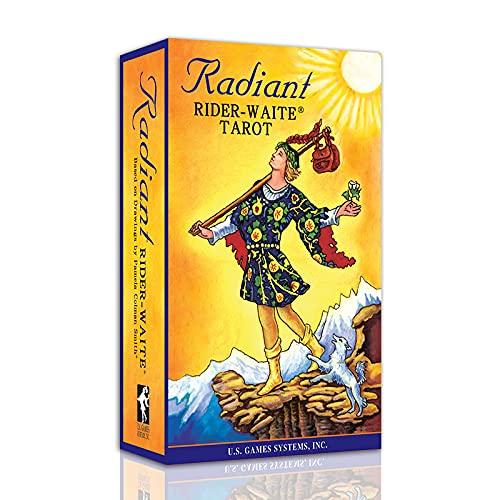 Radiant Rider-Waite Tarot Cards Deck with Transparent Case...