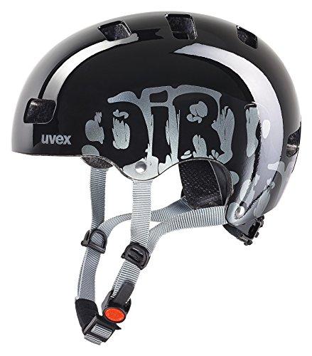 Uvex Unisex Jugend, kid 3 Fahrradhelm, dirtbike black, 55-58 cm