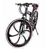 Outroad Mountain Bike 21 Speed 26 in Folding Bike Double Disc Brake Bicycles/Mountain Bike/Adult Mountain Bike/All-Terrain Mountain Bike