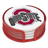 Thirstystone Stoneware Drink Coaster Set with Holder, Ohio State University (Kitchen)