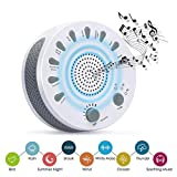 White Noise Machine, GAKOV GAGH-003 Soothing Sleep Therapy Sound Spa Relaxation Machine with 9 Nature Sound Auto-Off for Baby, Light Sleepers and Mediators,Traveler