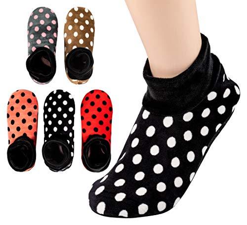5 Pairs, Womens Warm Fuzzy Socks, Non Slip Grip, Stretch...