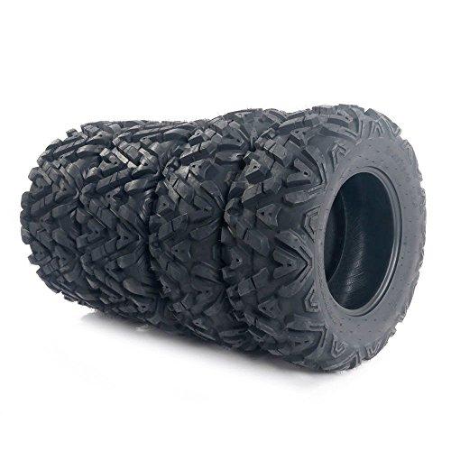MOTOOS Complete Set of 4 All Terrain ATV UTV Tires 25x8-12 Front & 25x10-12 Rear 6PR Tubeless