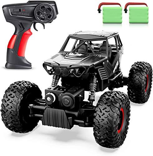 ANTAPRCIS 1:14 RC Voiture Télécommandée - 4WD 2.4Ghz Tout-Terrain Camion Buggy avec Deux Batteries, Cadeau Jouet pour 6-12 Ans Enfants