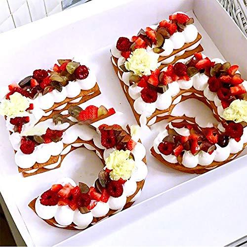 0-8 moldes numéricos para tartas de 10 pulgadas con número