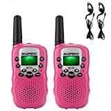BAOFENG Kids Walkie Talkies 22 Channel 2 Ways Radio Walkie Talkies 3 Miles (Up to 5Miles) FRS GMRS Handheld Mini Walky Talky Toy for Kids, with Earphone
