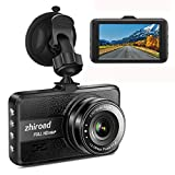 Dash Cam FHD 1080P Car Camera DVR Dashboard for Cars 3' LCD Screen with 170°Wide Angle,G-Sensor, WDR, Parking Monitor, Loop Recording Motion Detection Driving Recorder-Black
