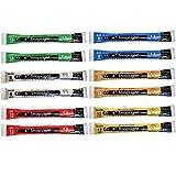 Cyalume 9-00741 Snap Light Stick, 6', Red/White/Blue/Green/Yellow/Orange (Pack of 12)