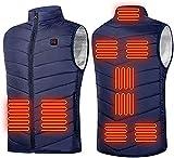 Gilet chauffant 9 places pour homme et femme avec port USB - Vêtement thermique pour la chasse -...