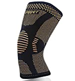 Copper Knee Brace for Arthritis Pain and Support-Copper Knee Sleeve Compression for Sports,Workout,Arthritis Relief-Single(M)
