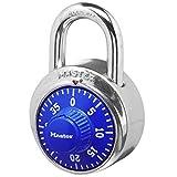 Master Lock 1506D Locker Lock Combination Padlock, 1 Pack, Blue