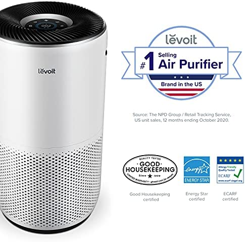 LEVOIT Air Purifier for Home Large Room, Smart WiFi and Alexa Control, H13 True HEPA Filter for Allergies, Pets, Smoke, Dust, Auto Mode, PM2.5 Display, Core 400S, 403 sq.ft, White 13