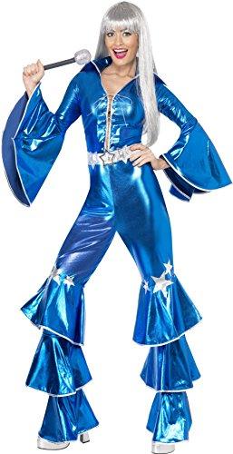 Smiffy's Smiffys-41159M Disfraz de El sueño del Baile, Incluye Enterizo con Cordones, Color Azul, M-EU Tamaño 40-42 41159M