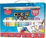 Maped Color'Peps Kit de Coloriage 100 pcs - 36 Crayons de Couleur, 36...