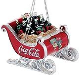 Kurt Adler Coca-Cola Résine traîneau avec Bouteilles Ornement # Cc2155