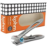 Kohm CP-120L 5mm Heavy Duty, Wide Jaw Toenail Clippers for Thick Toenails or Tough Fingernails, Large Toenail Clippers for Men, Seniors, Adults
