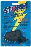 Markwort Storm Safety Whistle on Blister Card, Black